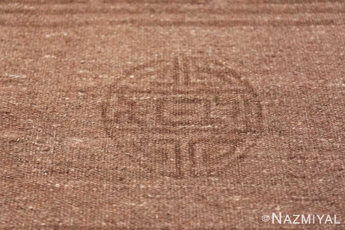 Antique Mongolian Kilim Rug 49801 circle Nazmiyal
