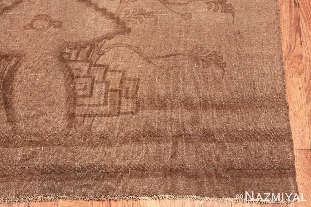 Antique Mongolian Kilim Rug 49801 vase corner Nazmiyal