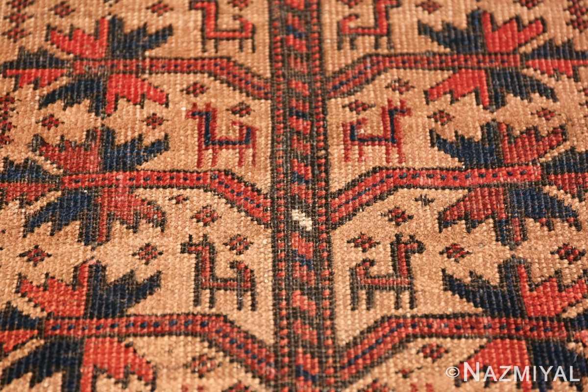Antique Tribal Persian Baluch Rug 49787 Animal Closeup Nazmiyal