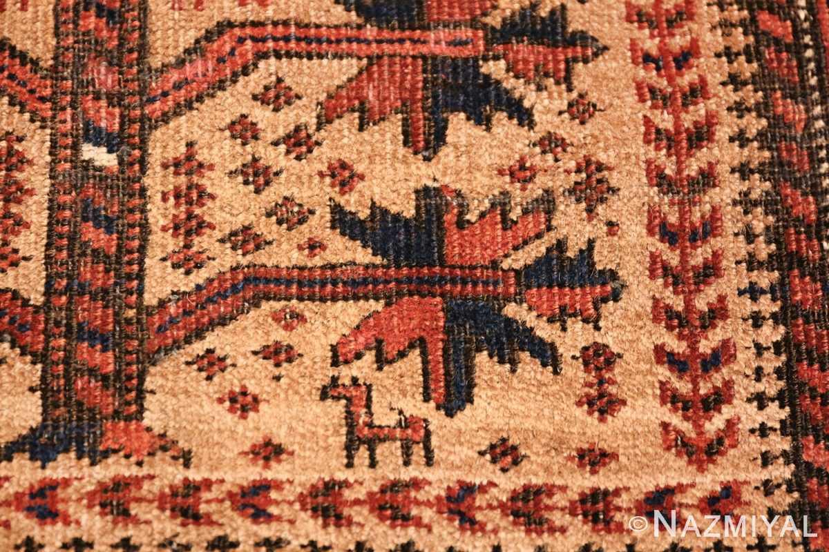 Antique Tribal Persian Baluch Rug 49787 Closeup Look Nazmiyal