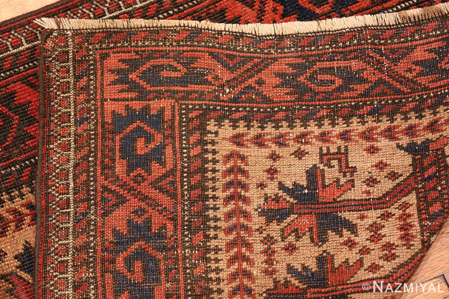 Antique Tribal Persian Baluch Rug 49787 Knots Background Nazmiyal