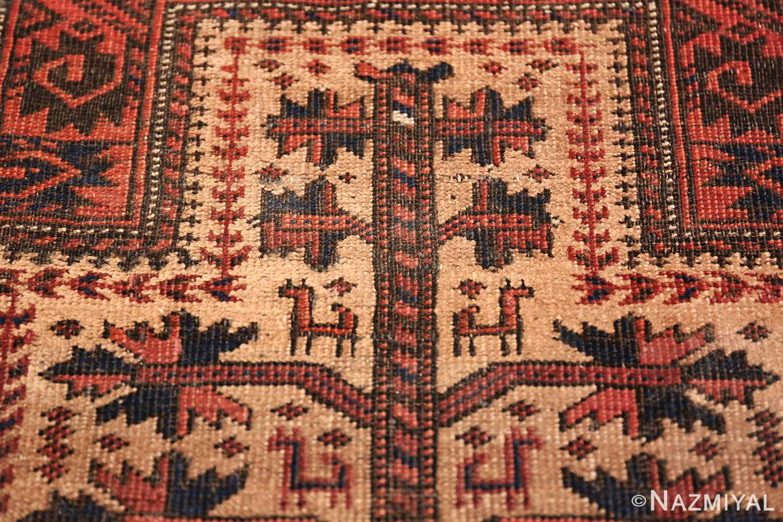 Antique Tribal Persian Baluch Rug 49787 Narrow Prayer Design Nazmiyal