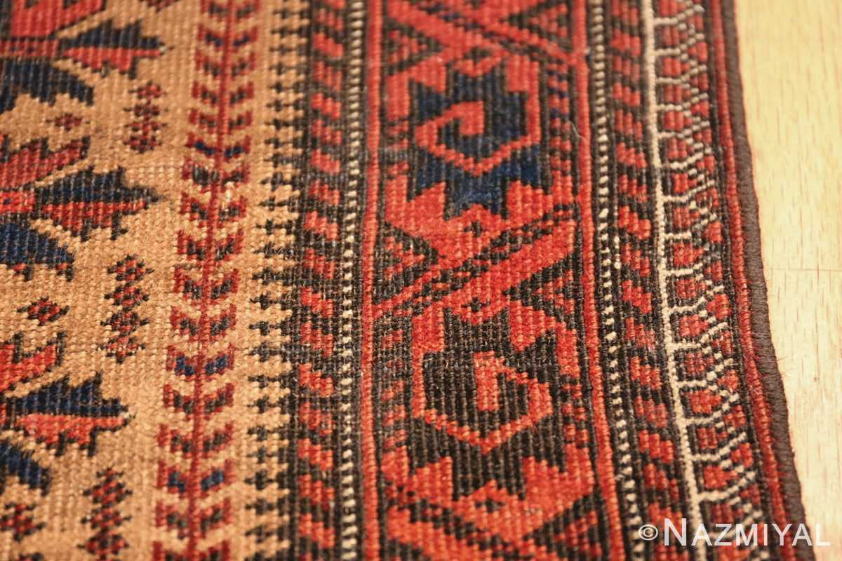 Antique Tribal Persian Baluch Rug 49787 Red Background Border Nazmiyal