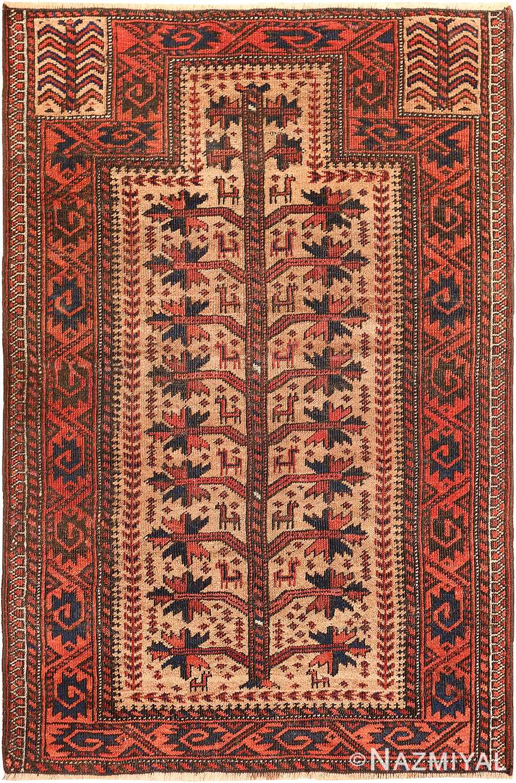 Antique Persian Baluch Tribal Prayer Rug 49787 Nazmiyal