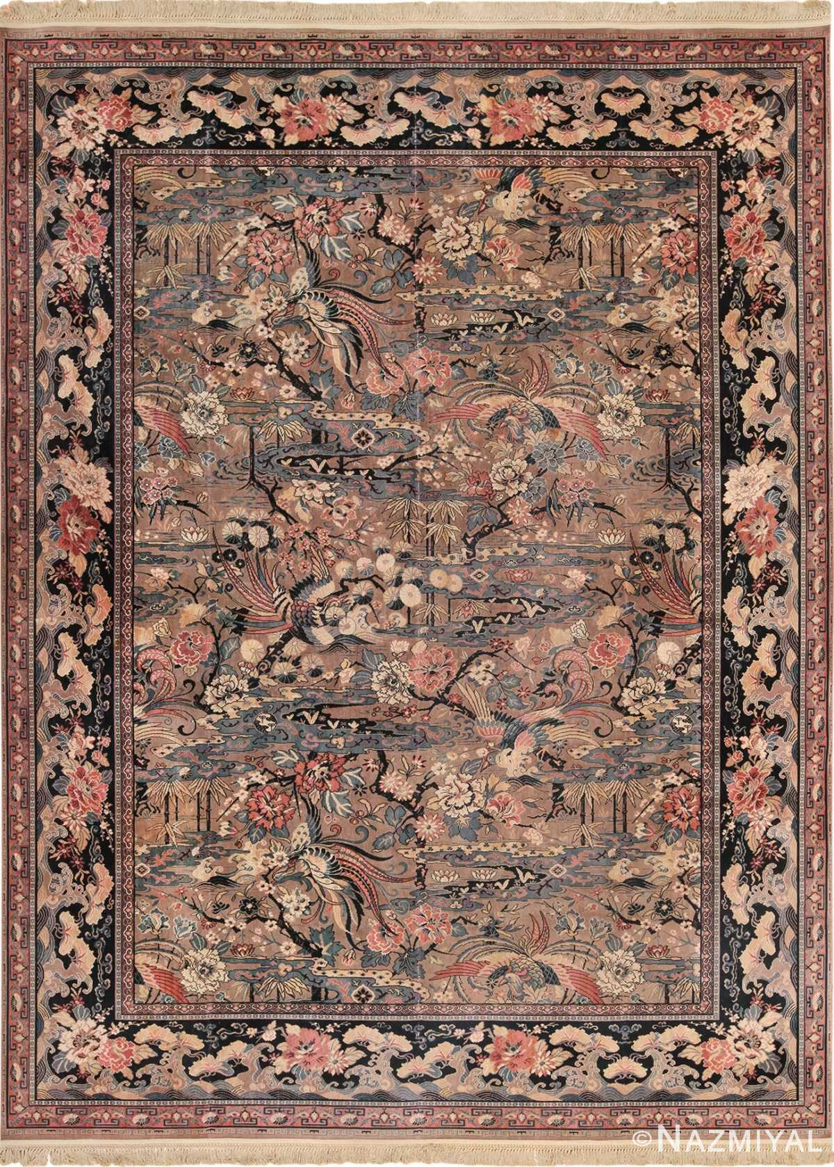 Vintage Birds of Paradise English Wilton Rug 49815 - Nazmiyal