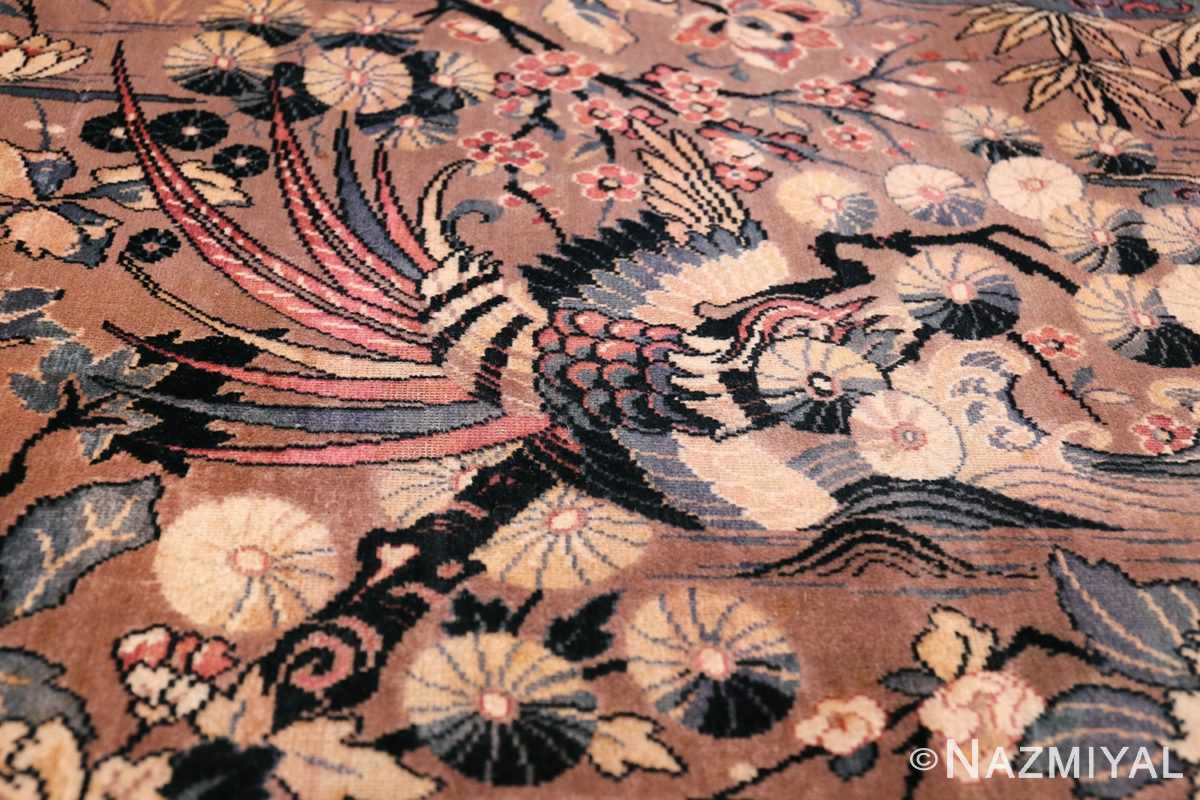 Birds of Paradise Vintage English Wilton Rug 49815 Hidden Bird Nazmiyal