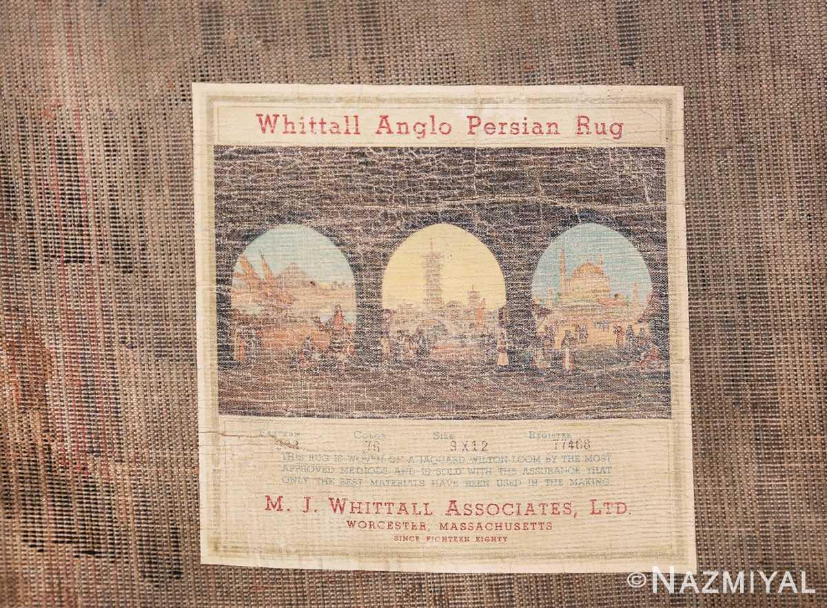 Birds of Paradise Vintage English Wilton Rug 49815 Label Tag Nazmiyal