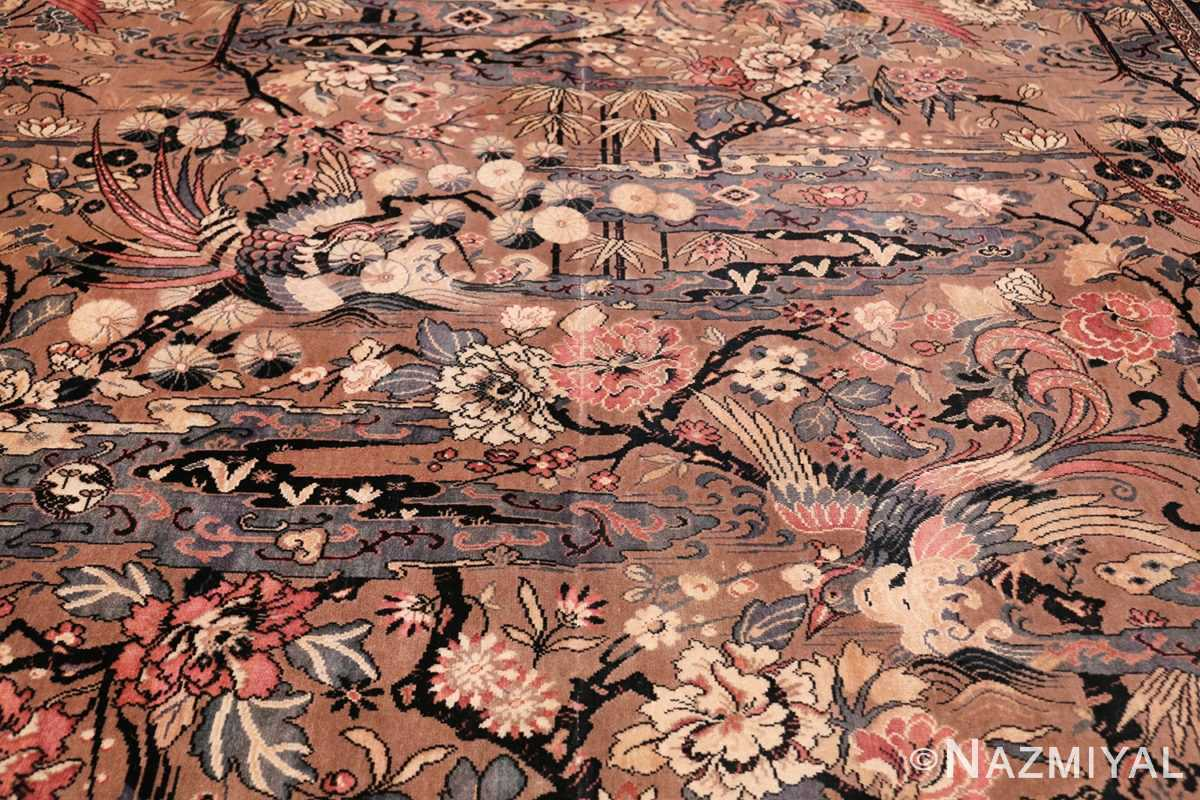 Birds of Paradise Vintage English Wilton Rug 49815 Middle of Paradise Nazmiyal
