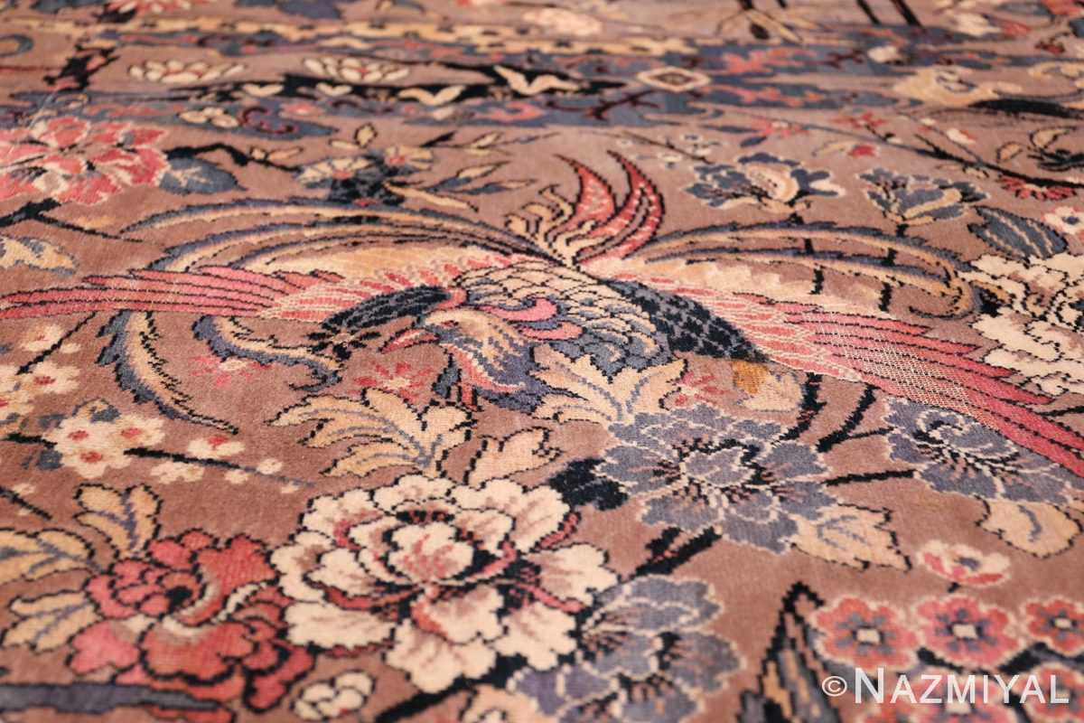 Birds of Paradise Vintage English Wilton Rug 49815 Open Wings Nazmiyal