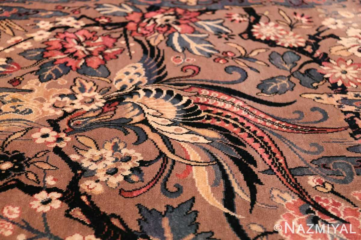 Birds of Paradise Vintage English Wilton Rug 49815 Picking Flower Nazmiyal