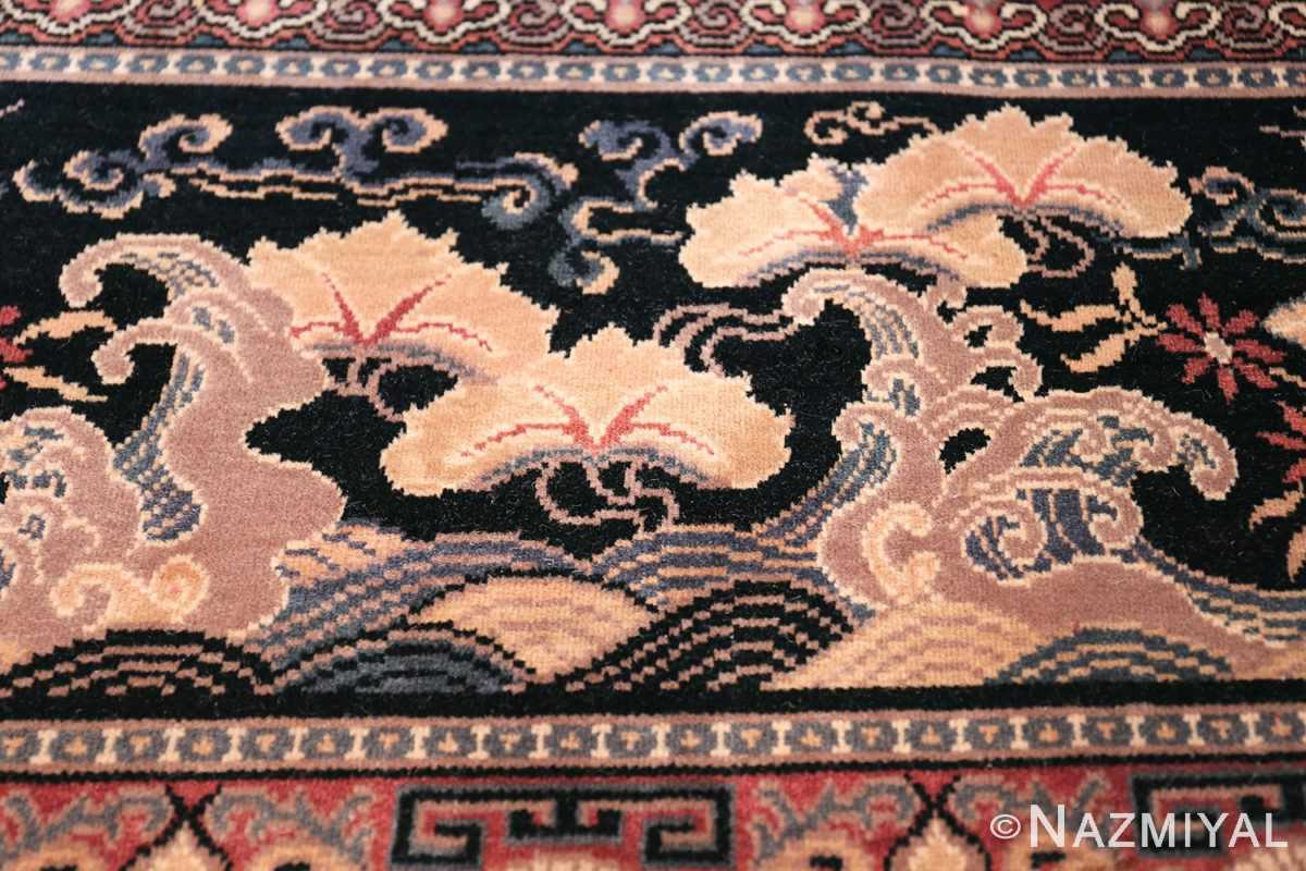 Birds of Paradise Vintage English Wilton rug 49815 White Tree Nazmiyal