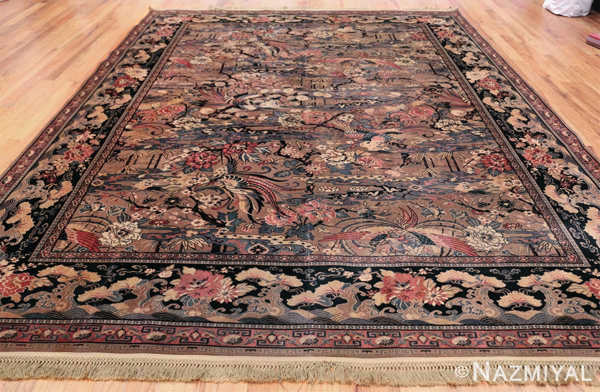 Birds of Paradise Vintage English Wilton rug 49815 Whole Design Nazmiyal