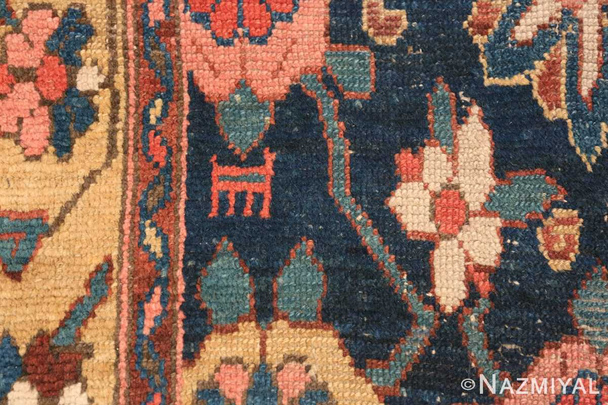 Early 19th Century Tribal Persian Northwest Runner 49499 pink rose Nazmiyal
