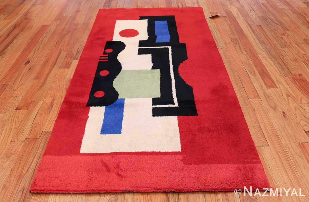 Fernand Leger No 9 Rouge design Vintage French Rug 49811 Whole Design Nazmiyal