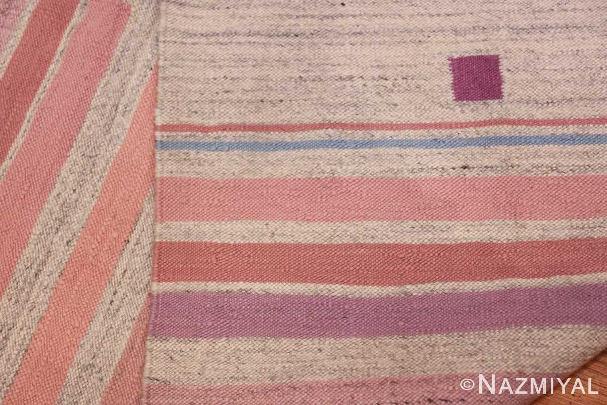 Flat Woven Vintage Scandinavian Swedish Kilim Rug 49819 Knots Woven Nazmiyal