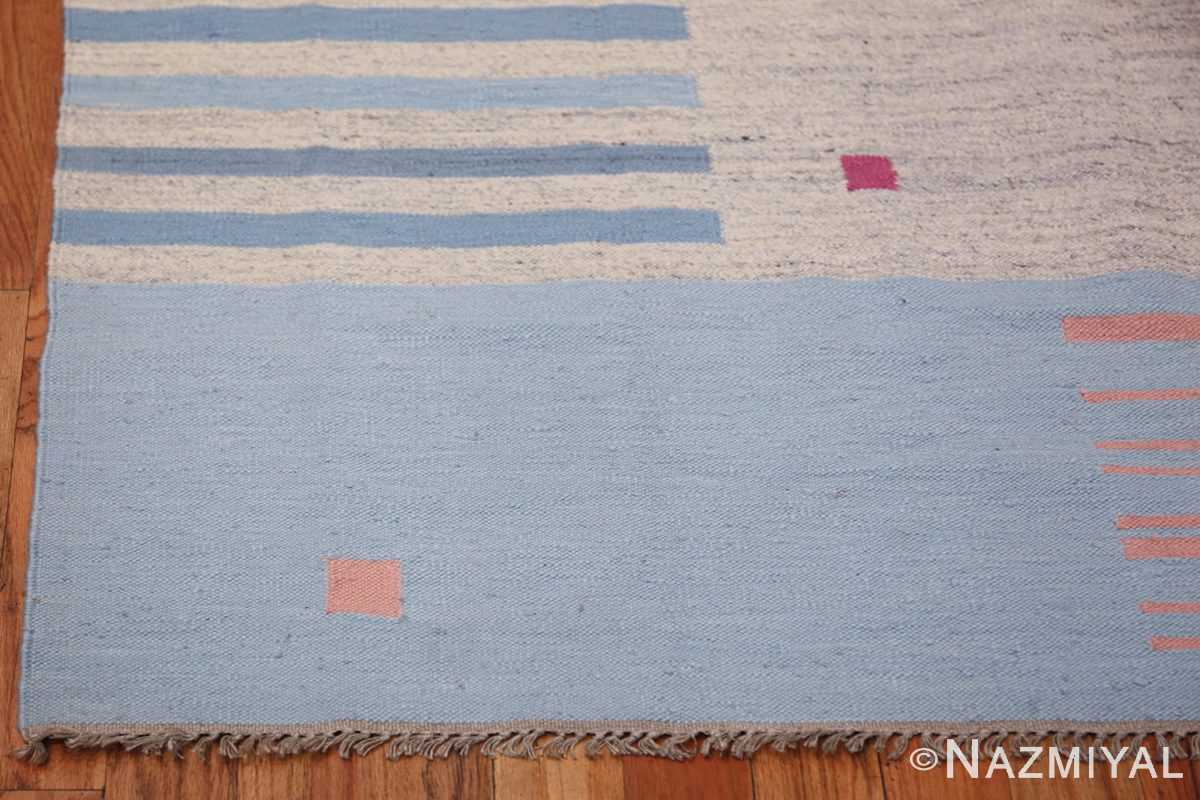 Flat Woven Vintage Scandinavian Swedish Kilim Rug 49819 Side Corner Nazmiyal