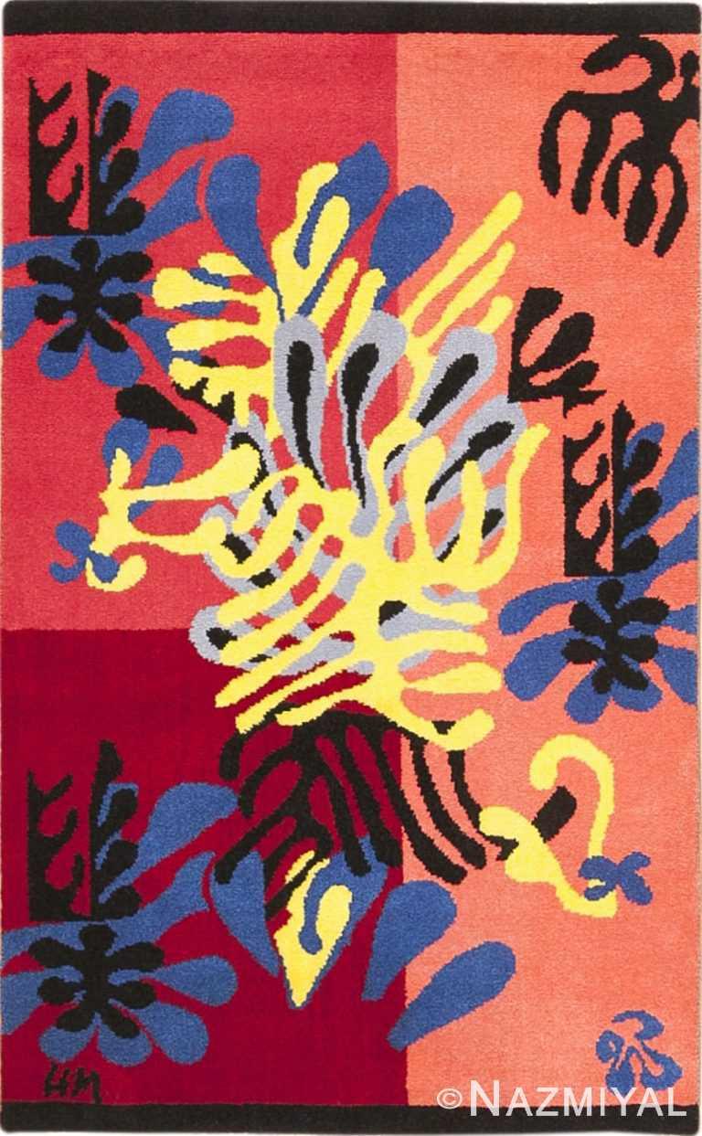 Vintage American Henri Matisse Mimosa Rug 49809 - Nazmiyal