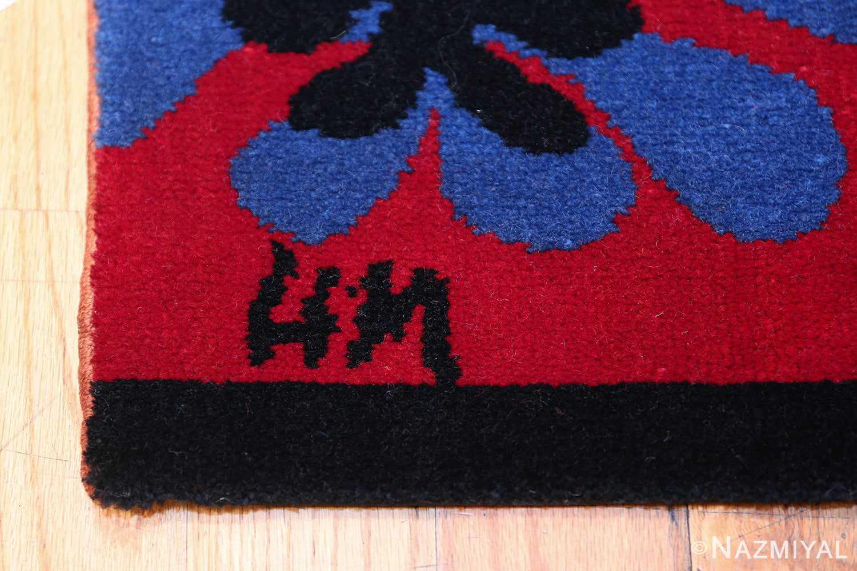 Henri Matisse Mimosa Vintage Rug 49809 Artist Signature Nazmiyal
