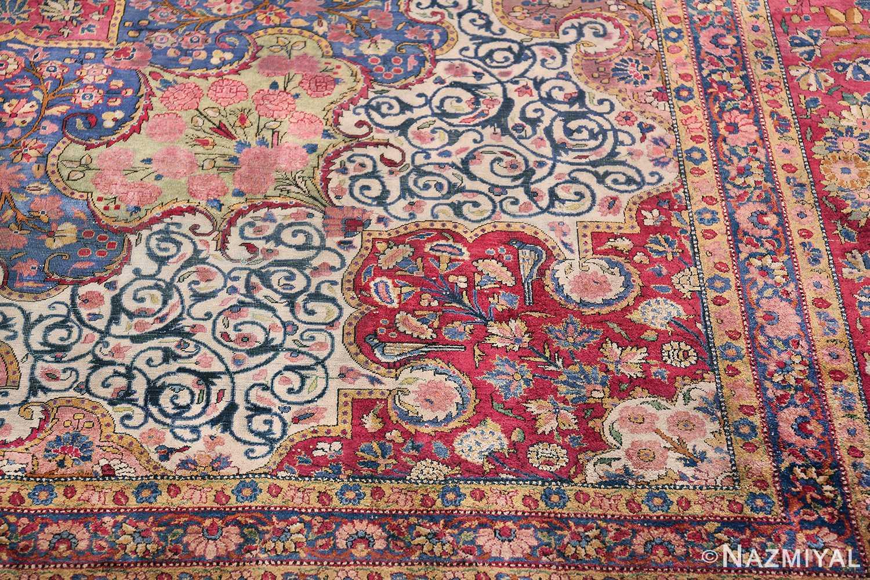 Large Antique Persian Kashan Dabir Rug 49741 Design Part Nazmiyal