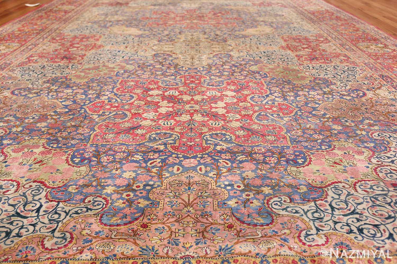 Large Antique Persian Kashan Dabir Rug 49741 Field Low Angle Nazmiyal