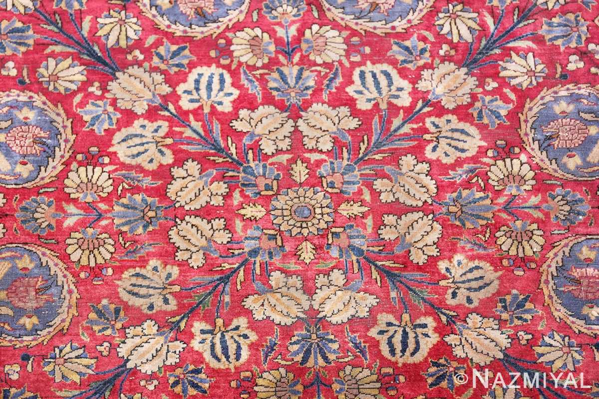 Large Antique Persian Kashan Dabir Rug 49741 Floral Center Nazmiyal