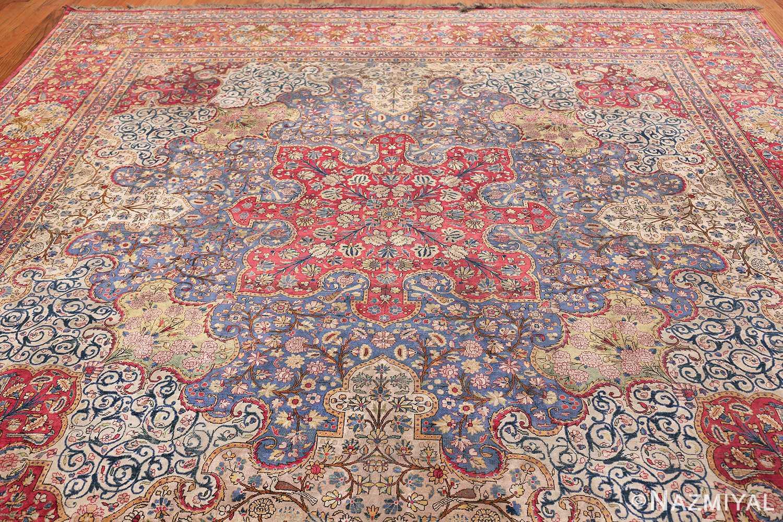 Large Antique Persian Kashan Dabir Rug 49741 Top Design Nazmiyal