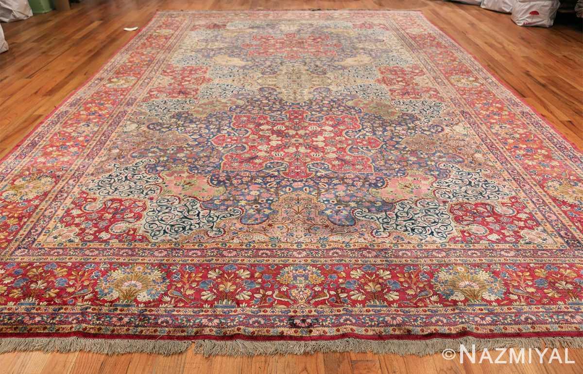 Large Antique Persian Kashan Dabir Rug 49741 Whole Design Nazmiyal