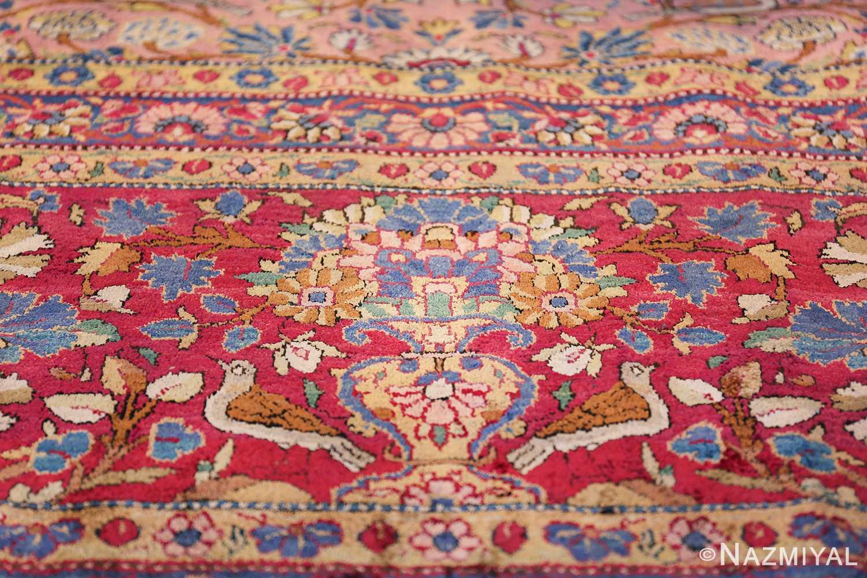 Large Antique Persian Kashan Dabir Rug 49741 Yellow Vase Border Nazmiyal