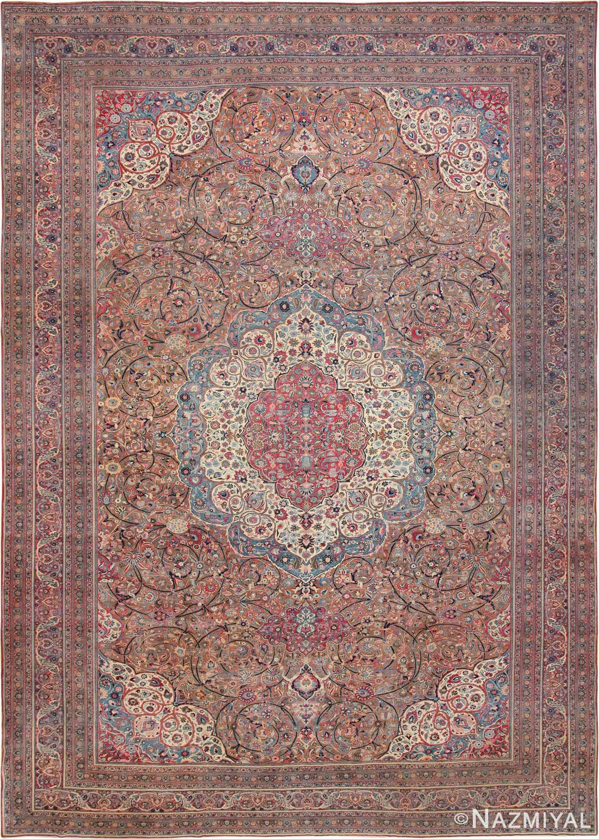 Large Antique Persian Khorassan Rug 49694 Nazmiyal