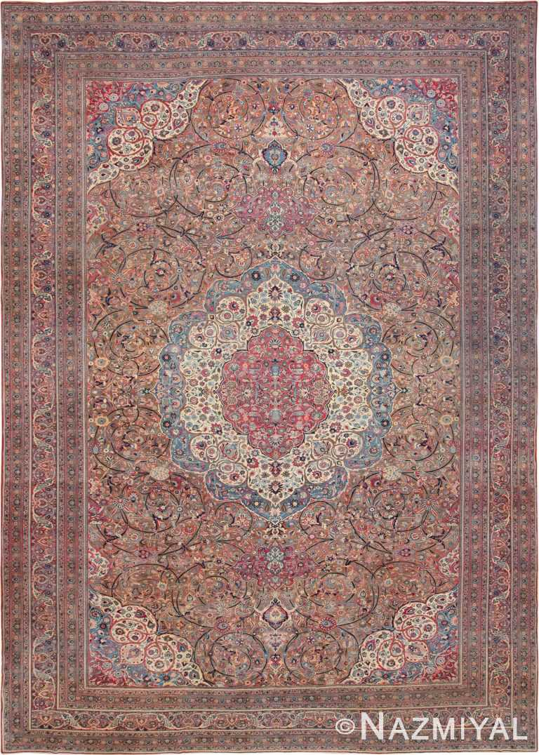 Extremely Fine Large Antique Persian Khorassan Area Rug #49694 by Nazmiyal Antique Rugs