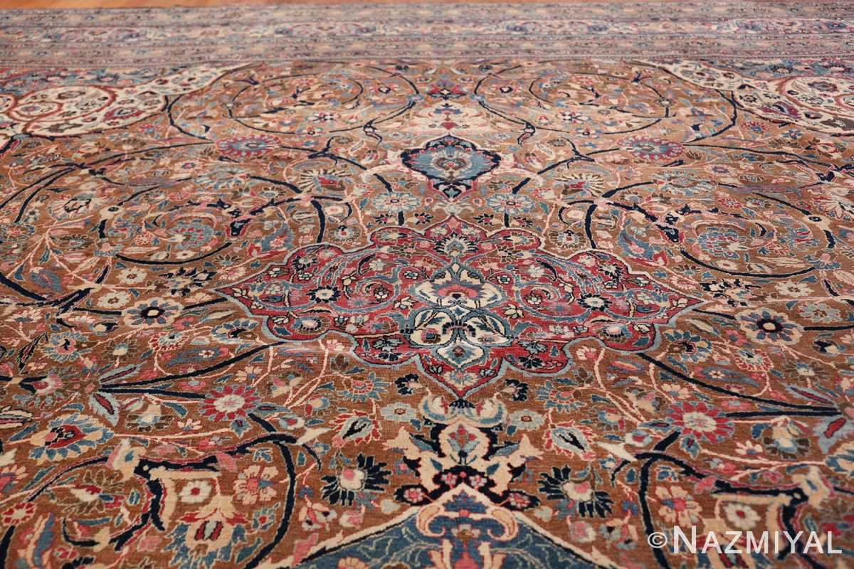 Large Antique Persian Khorassan Rug 49694 arabesque Nazmiyal