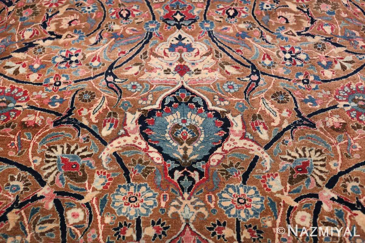Large Antique Persian Khorassan Rug 49694 Blue Tiara Nazmiyal