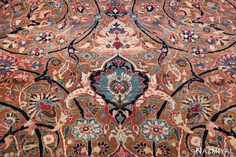 Large Antique Persian Khorassan Rug 49694 Blue Tiara Nazmiyal