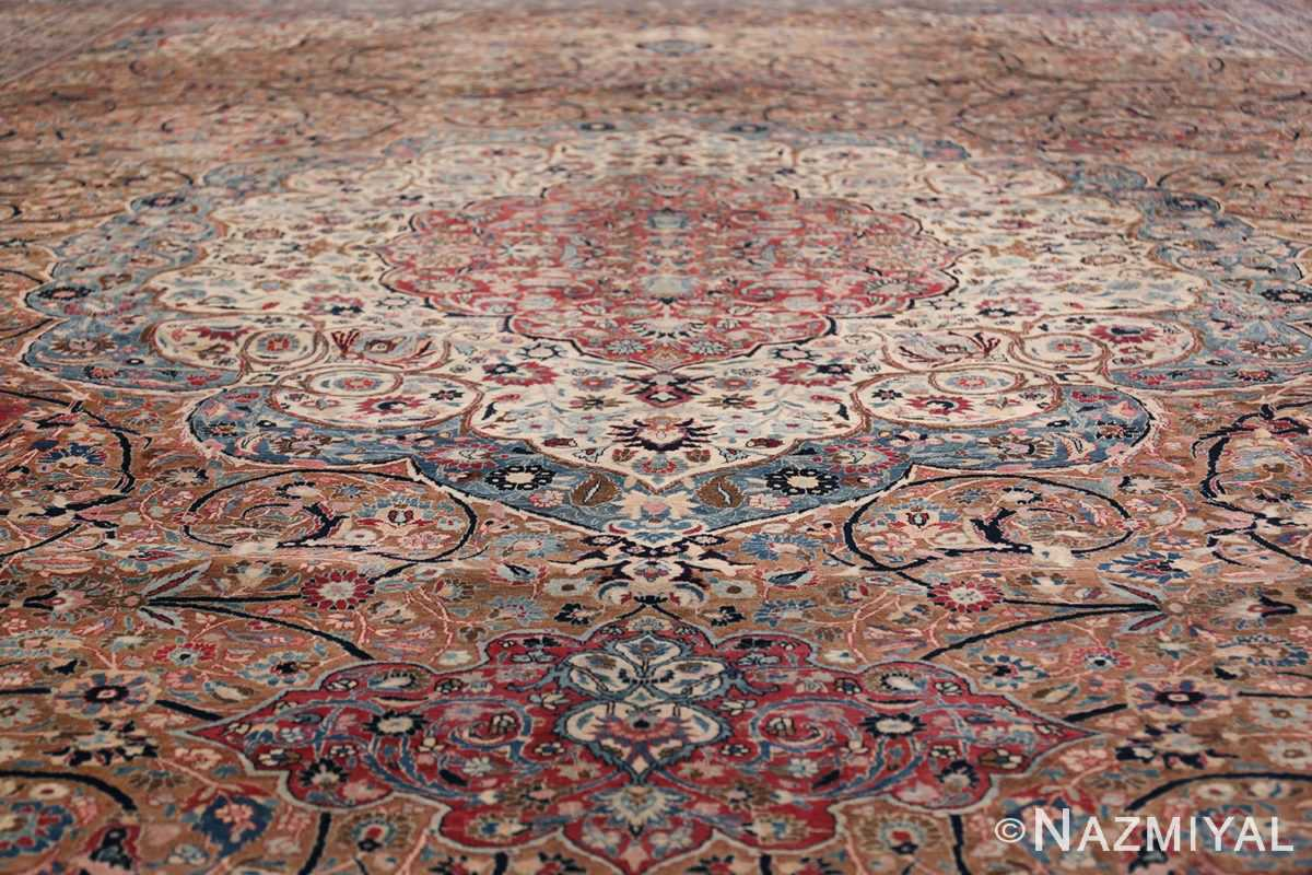 Large Antique Persian Khorassan Rug 49694 Central Medallion Part Nazmiyal