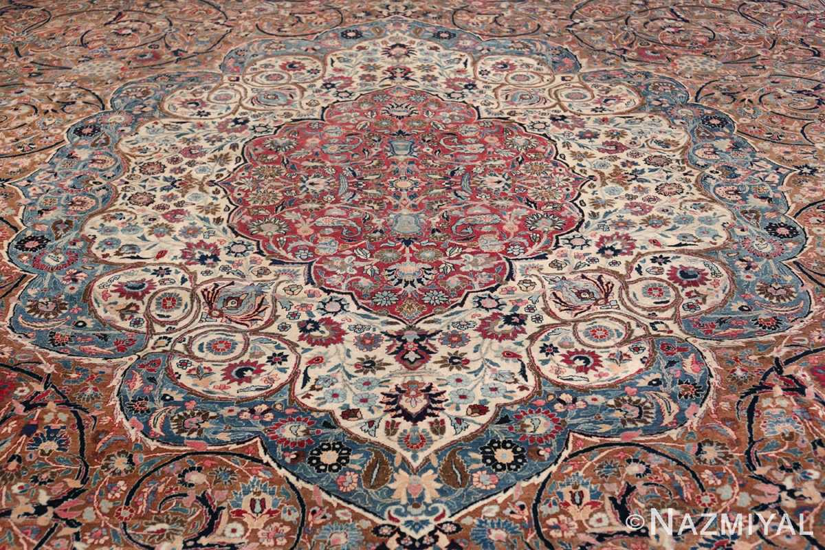 Large Antique Persian Khorassan Rug 49694 Field Nazmiyal