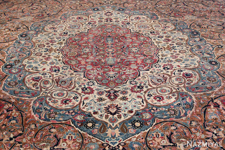 Large Antique Persian Khorassan Rug 49694 Field Nazmiyal