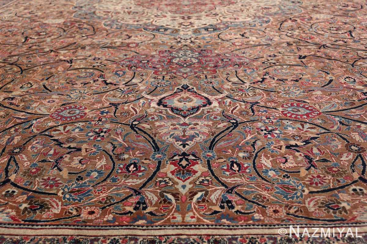 Large Antique Persian Khorassan Rug 49694 Four Down Scrolls Nazmiyal