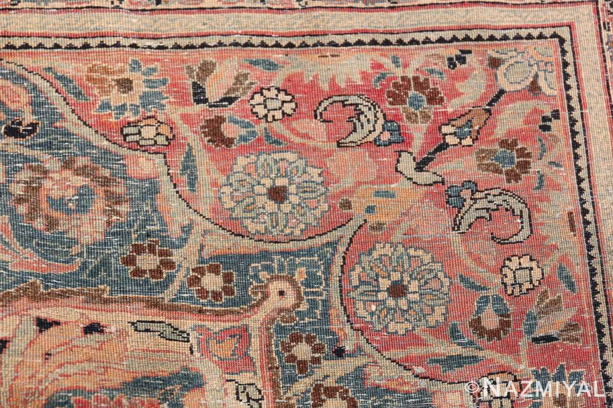 Large Antique Persian Khorassan Rug 49694 Knots Back Nazmiyal