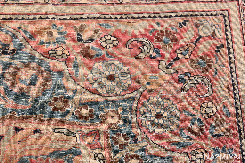 Large Antique Persian Khorassan Rug 49694 Knots Back Nazmiyal