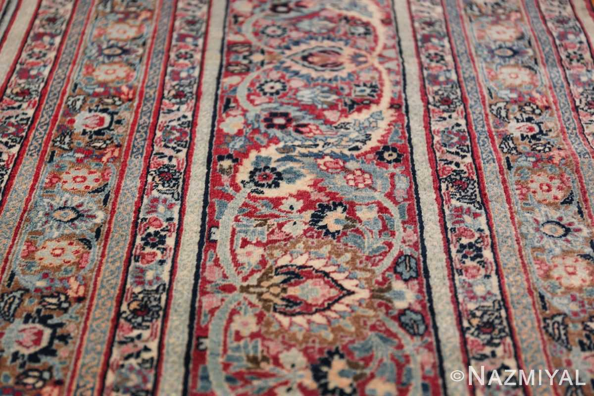 Large Antique Persian Khorassan Rug 49694 Lines Nazmiyal