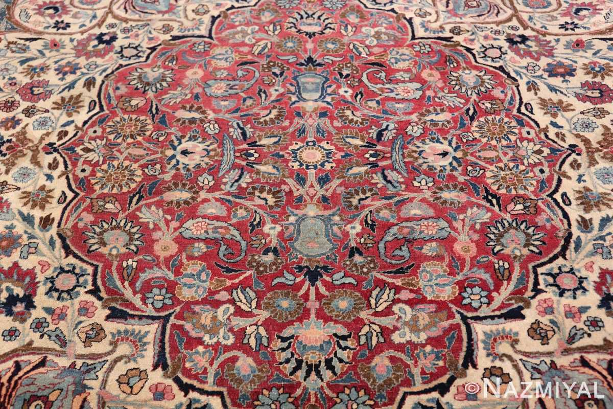 Large Antique Persian Khorassan Rug 49694 Red Interior Part Nazmiyal
