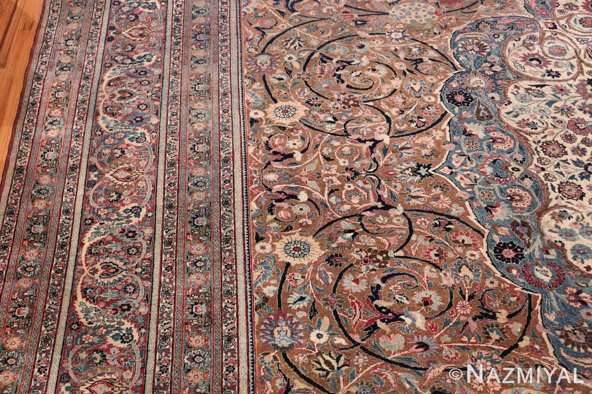 Large Antique Persian Khorassan Rug 49694 Side Border Nazmiyal