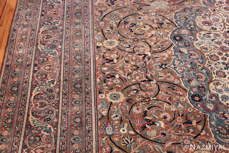 Large Antique Persian Khorassan Rug 49694 Side Border Nazmiyal