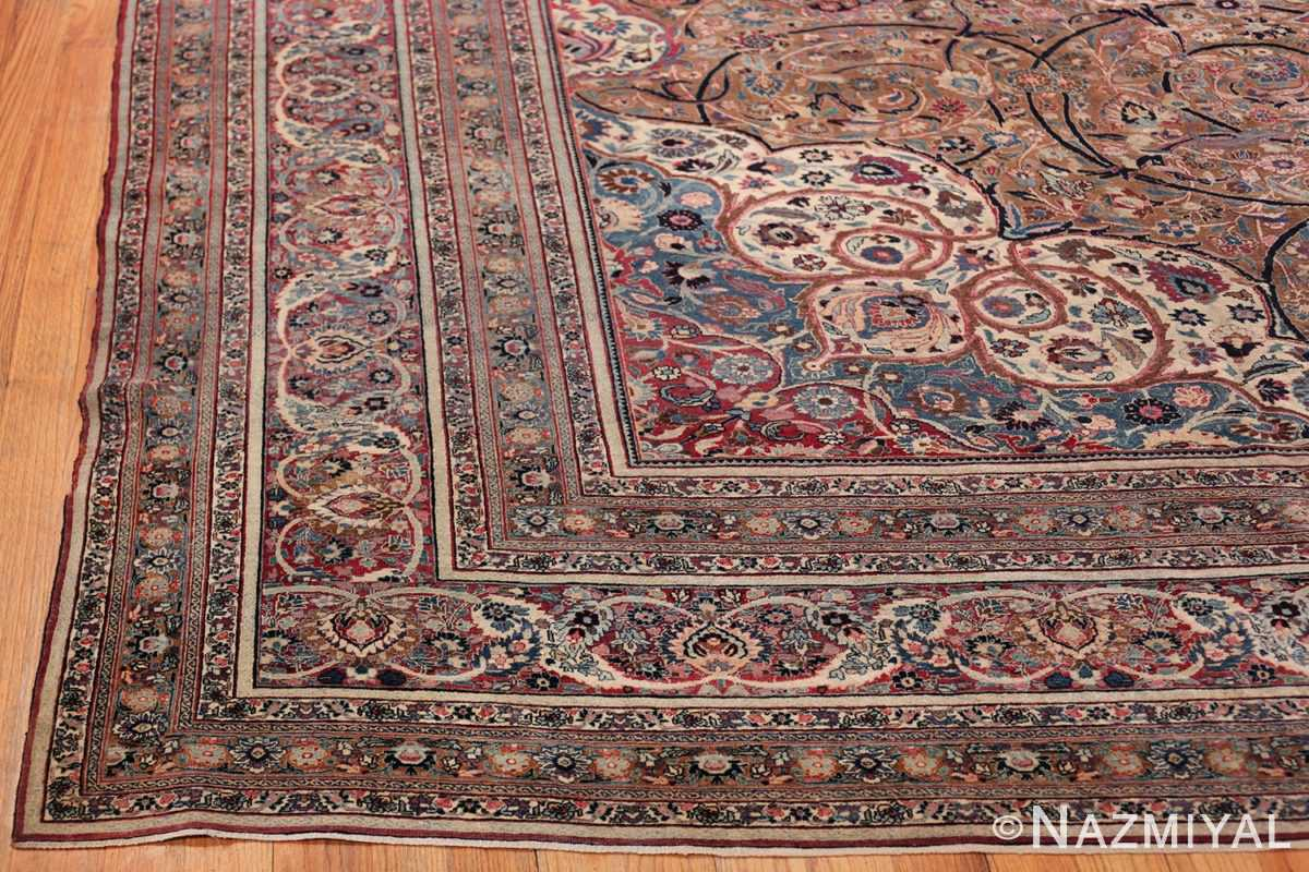Large Antique Persian Khorassan Rug 49694 Side Corner Nazmiyal