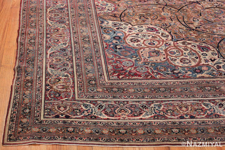 Large Antique Persian Khorassan Rug 49694 Side Corner Nazmiyal