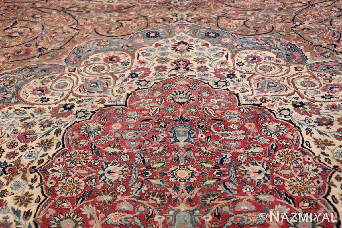 Large Antique Persian Khorassan Rug 49694 Top of Medallion Nazmiyal