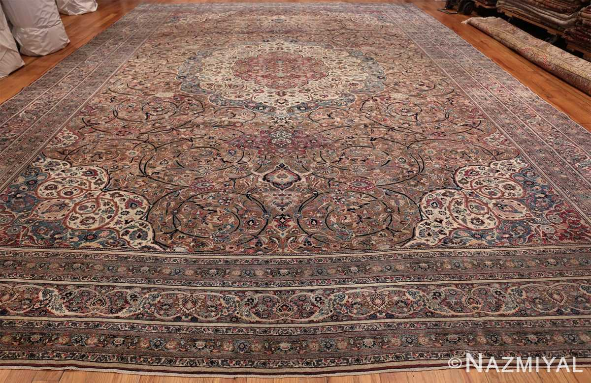 Large Antique Persian Khorassan Rug 49694 Whole Design Nazmiyal