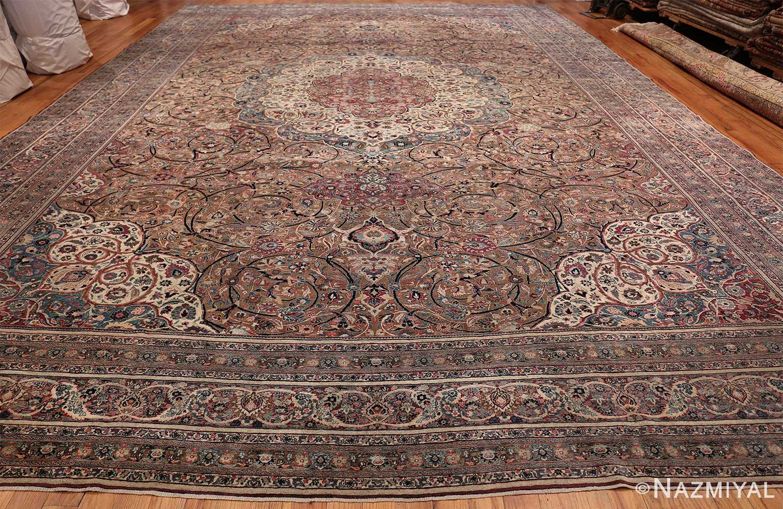 Large Antique Persian Khorassan Rug 49694 Whole Design Nazmiyal