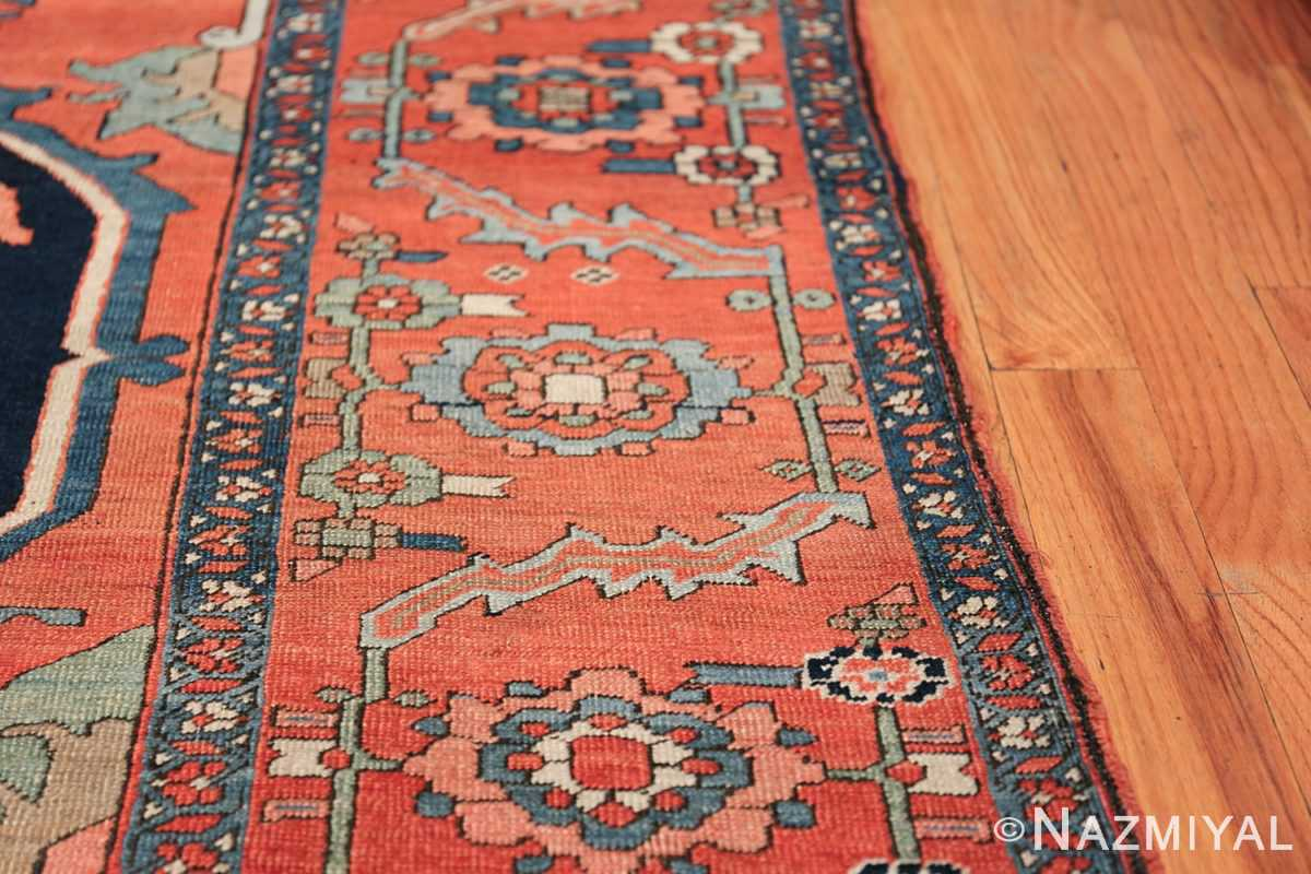 Large Antique Persian Serapi Rug 49742 border Nazmiyal