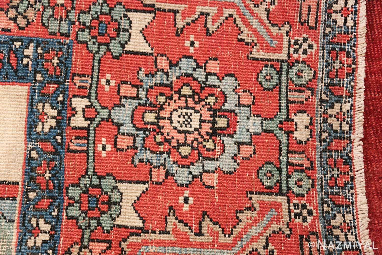 Large Antique Persian Serapi Rug 49742 floral knots Nazmiyal